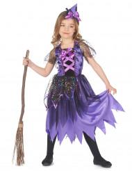 Disfraz de bruja con polvo de estrellas para niña