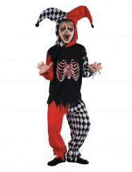 Disfraz de arlequín sangriento niño