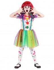 Disfraz de payaso pintura multicolor niña