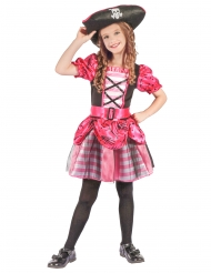 Disfraz de pirata rosa y negro niña