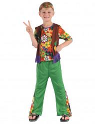 Disfraz de hippie flower power niño