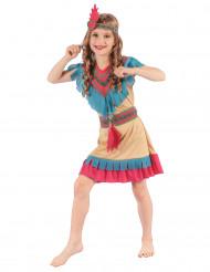 Disfraz de india colorida Niña