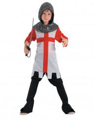 Disfraz de caballero cruzado túnica niño