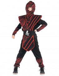 Disfraz de Ninja salvaje rojo Niño