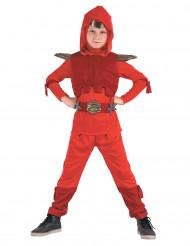 Disfraz de ninja real rojo niño