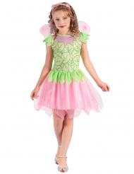 Disfraz de hada verde y rosa Niña