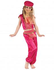 Disfraz de bailarina de oriente Rosa y dorado Niña