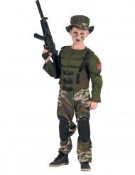 Disfraz de soldado americano musculoso niño