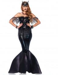 Disfraz de sirena maléfica negro mujer Premium