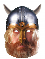 Máscara de cartón Vikingo