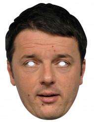 Máscara cartón Matteo Renzi
