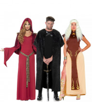 Disfraz de grupo serie medieval adulto