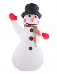 Decoración muñeco de nieve hinchable y luminoso 120 cm Navidad