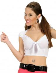 Camiseta top con lazo sexy mujer