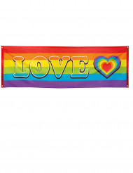 Pancarta LOVE arcoíris 74x200 cm
