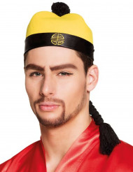Sombrero chino con trenza adulto