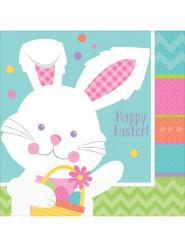 16 Servilletas de papel conejo de Pascua