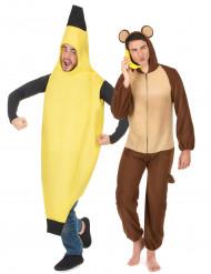 Disfraz de pareja banana y mono