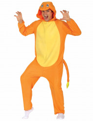 Disfraz de ratón eléctrico naranja adulto