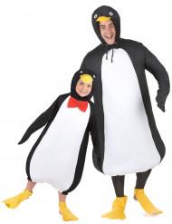 Disfraz de pareja pingüino padre e hijo