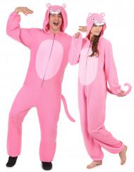 Disfraz de pareja pantera rosa adulto