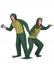 Disfraz de pareja rana con capucha