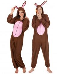 Disfraz de pareja conejo marrón