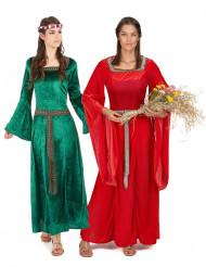 Disfraz de pareja medieval mujer