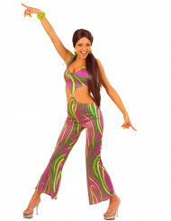 Disfraz años 70 multicolor para mujer