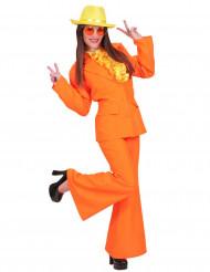 Disfraz traje naranja para mujer
