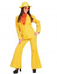 Disfraz traje amarillo para mujer