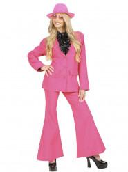 Disfraz traje rosa mujer