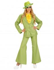 Disfraz traje verde para mujer