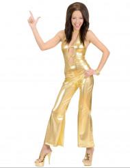 Disfraz traje disco dorado sexy mujer