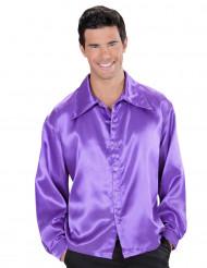 Camisa satinada Violeta hombre
