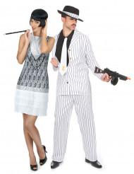Disfraz de pareja charlestón blanco