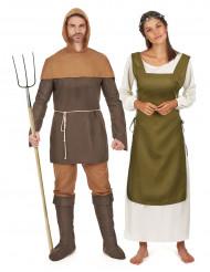 Disfraz de pareja campesinos medievales