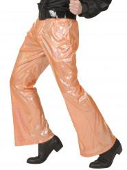 Pantalón disco holográfico naranja hombre