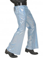 Pantalón disco holográfico azul hombre
