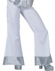 Pantalón disco blanco con lentejuelas Mujer