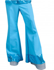 Pantalón disco azul con lentejuelas hombre