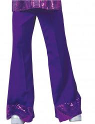 Pantalón disco violeta con lentejuelas hombre