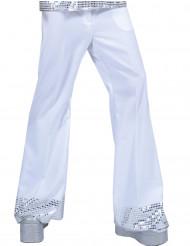 Pantalón disco blanco con lentejuelas hombre