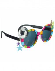 Gafas disco multicolor adulto