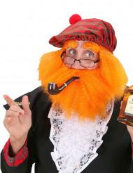 Boina con peluca y barba escocés adulto