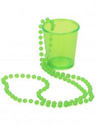 Collar chupito verde San Patricio