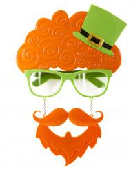 Gafas con barba y pelo San Patricio
