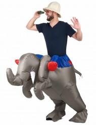 Disfraz de adulto sobre elefante