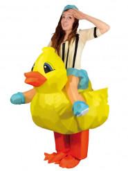 Disfraz de pato hinchable para adulto
