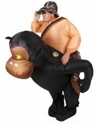 Disfraz de mono hinchable adulto